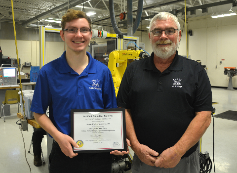 Student Earns FANUC Certification