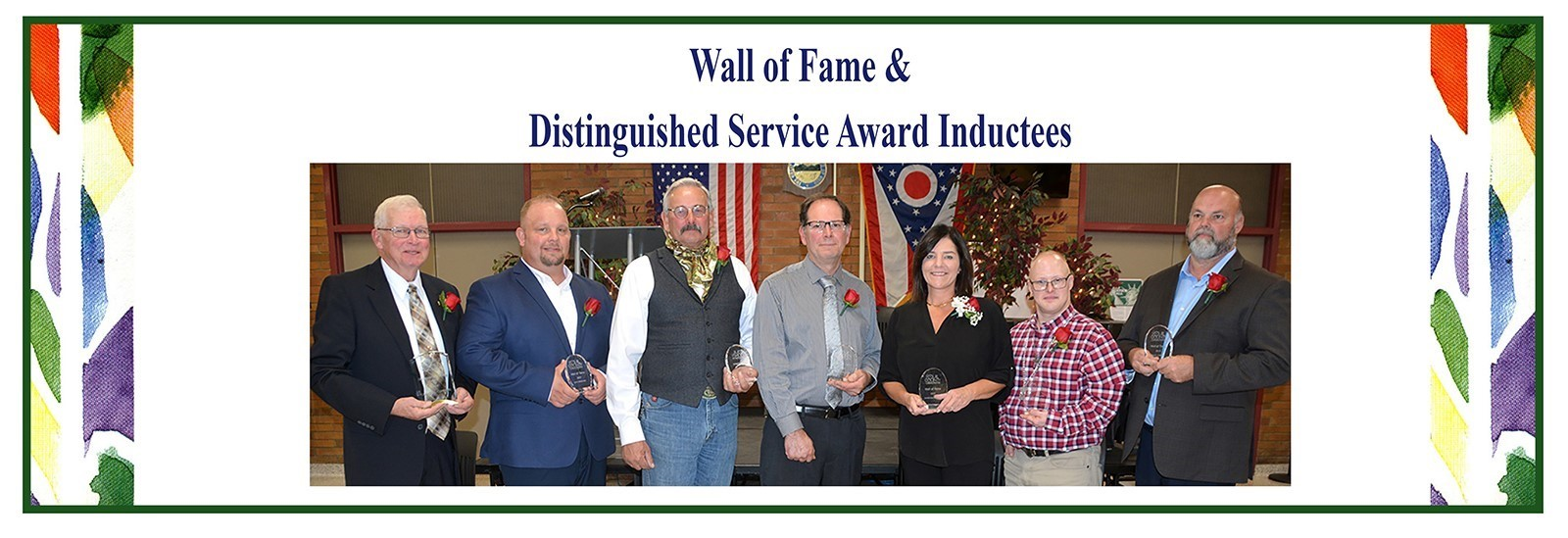 2019 Wall of Fame & Distinguished Service Award Inductees