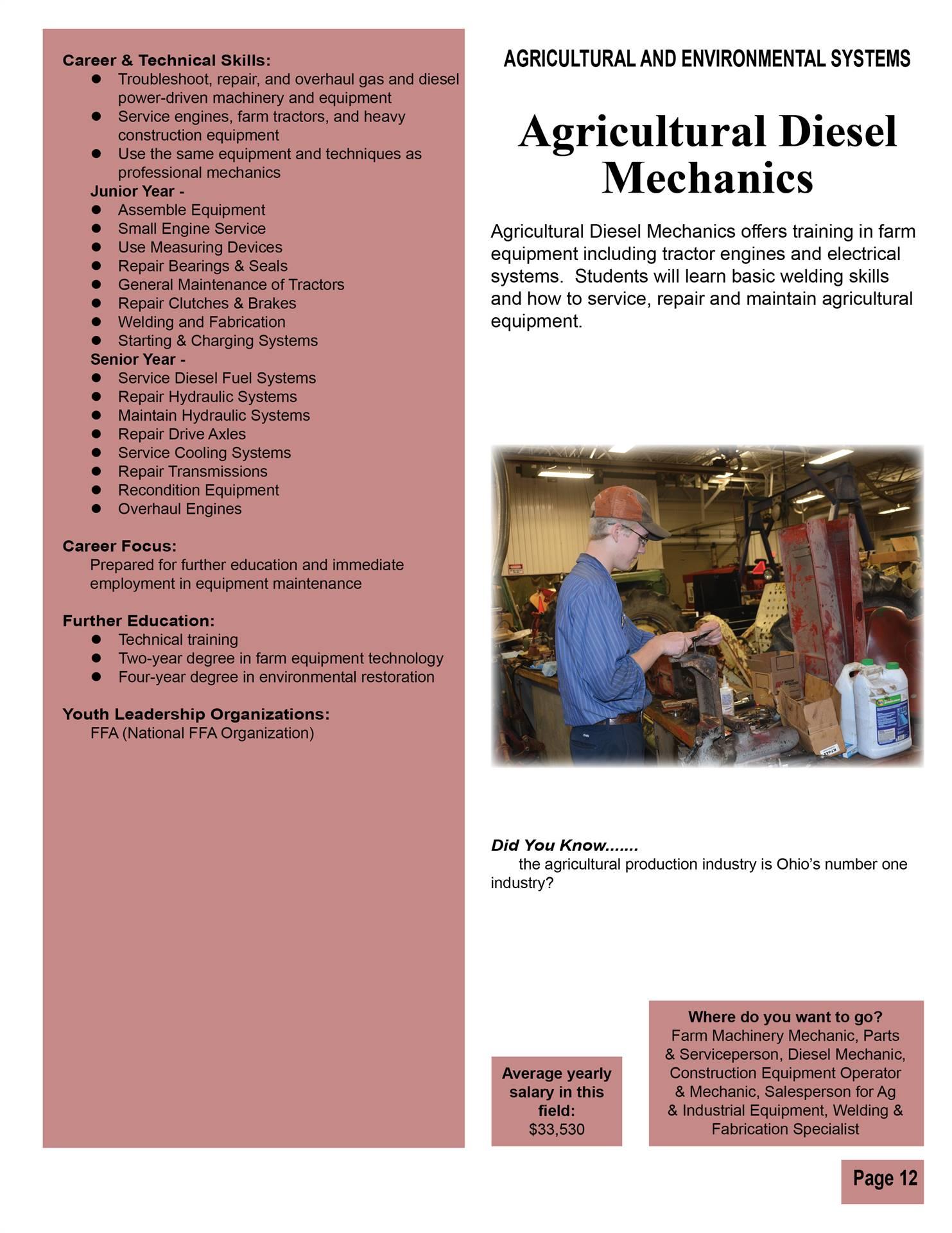 Agricultural Diesel Mechanics