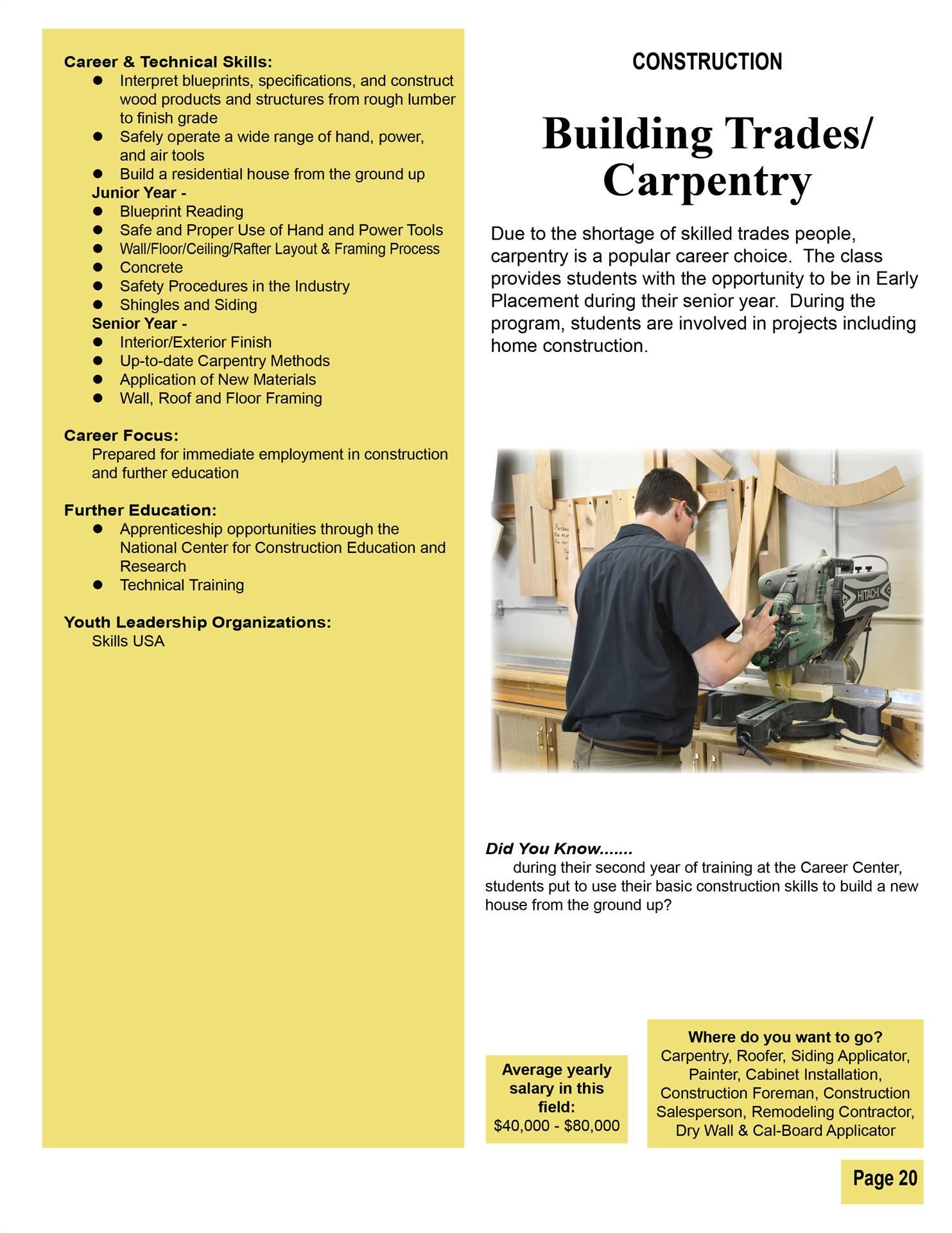 Building Trades/Carpentry