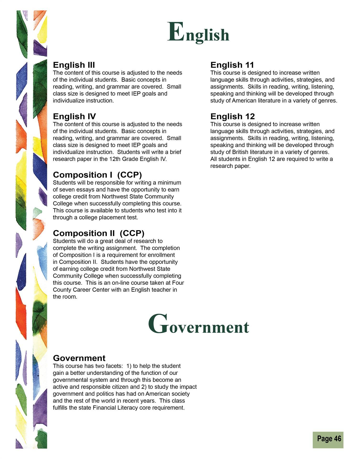 English & Government