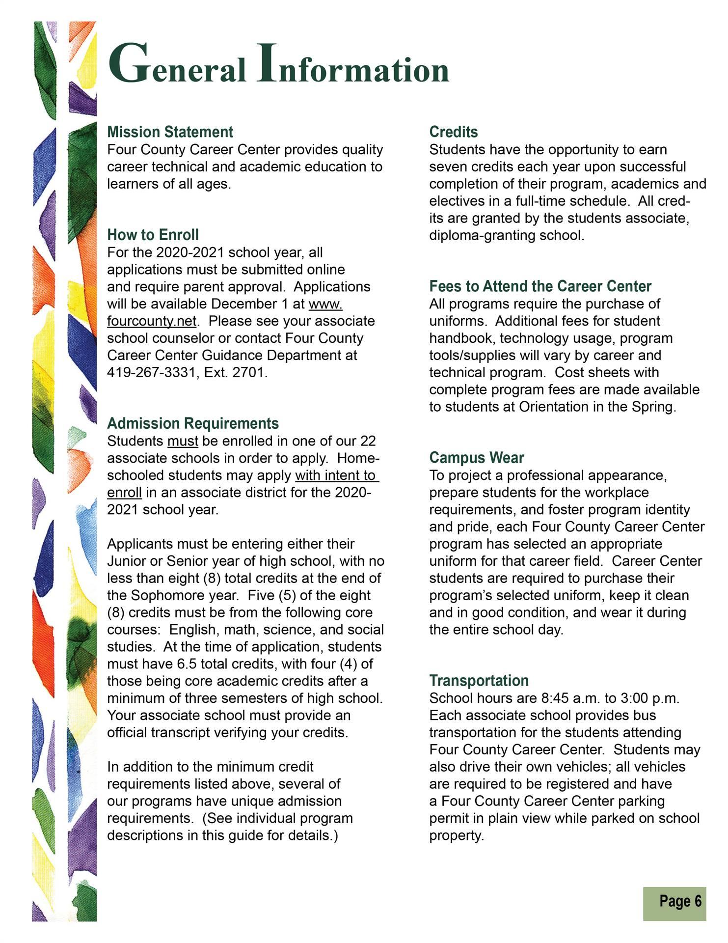 General Information pg 1