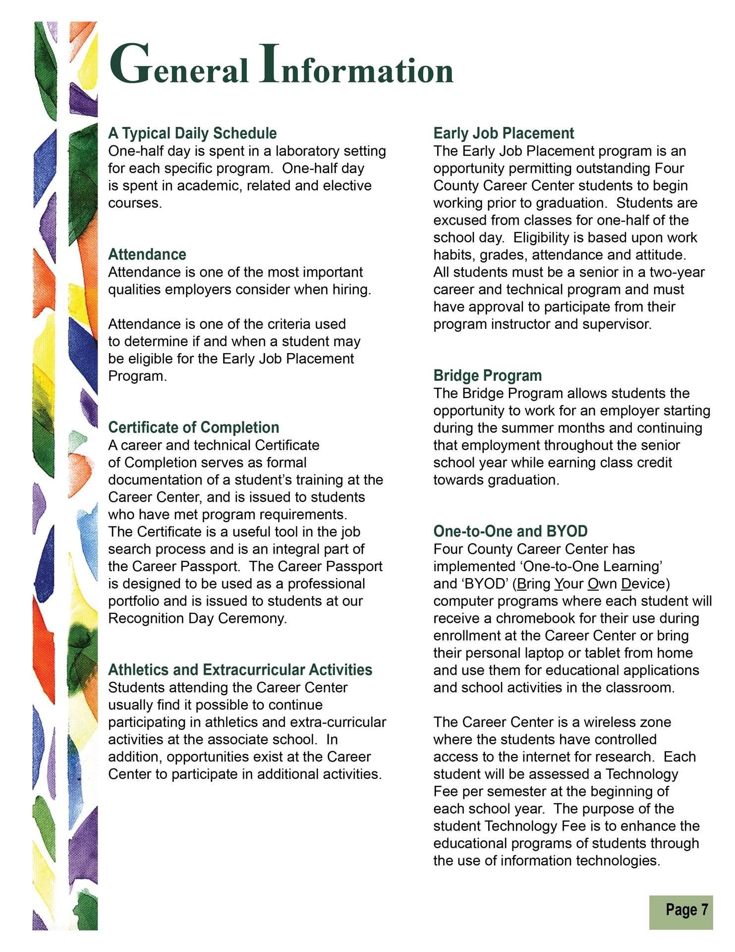 General Information pg 2