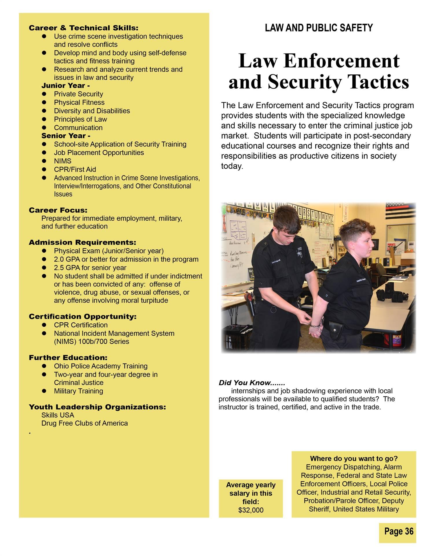 Law Enforcement & Security Tactics