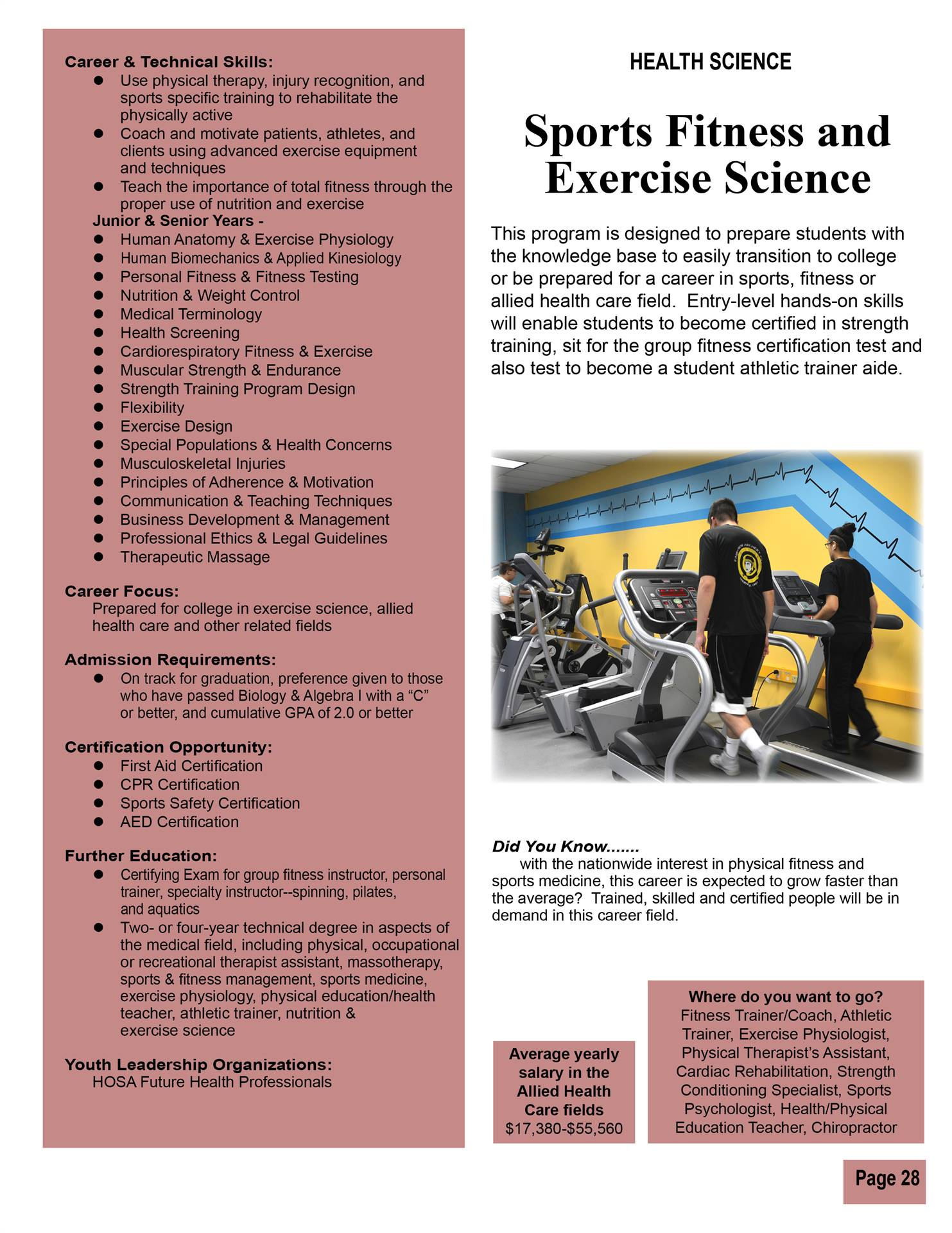 Sports Fitness and Exercise Science
