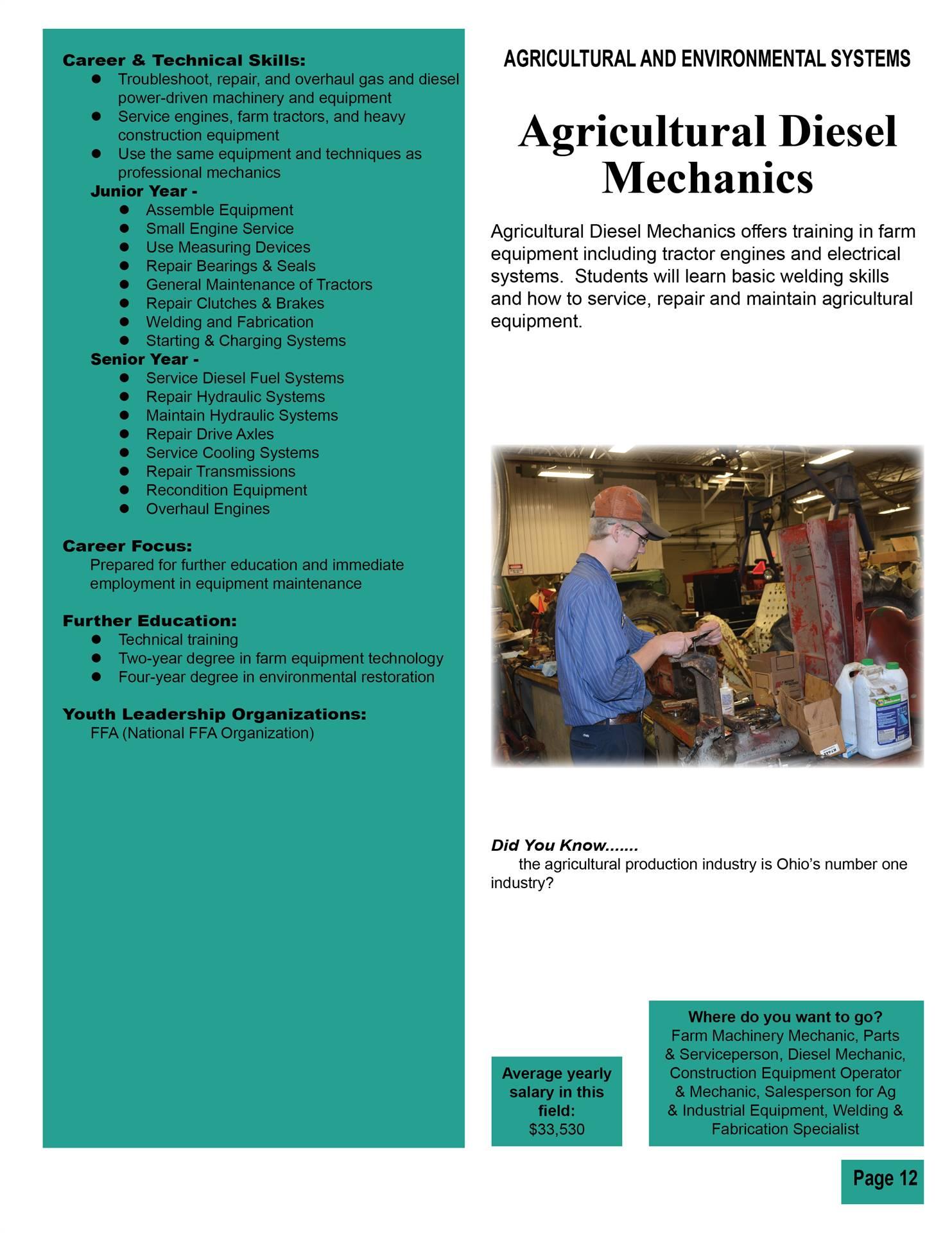 Ag Diesel Mechanics
