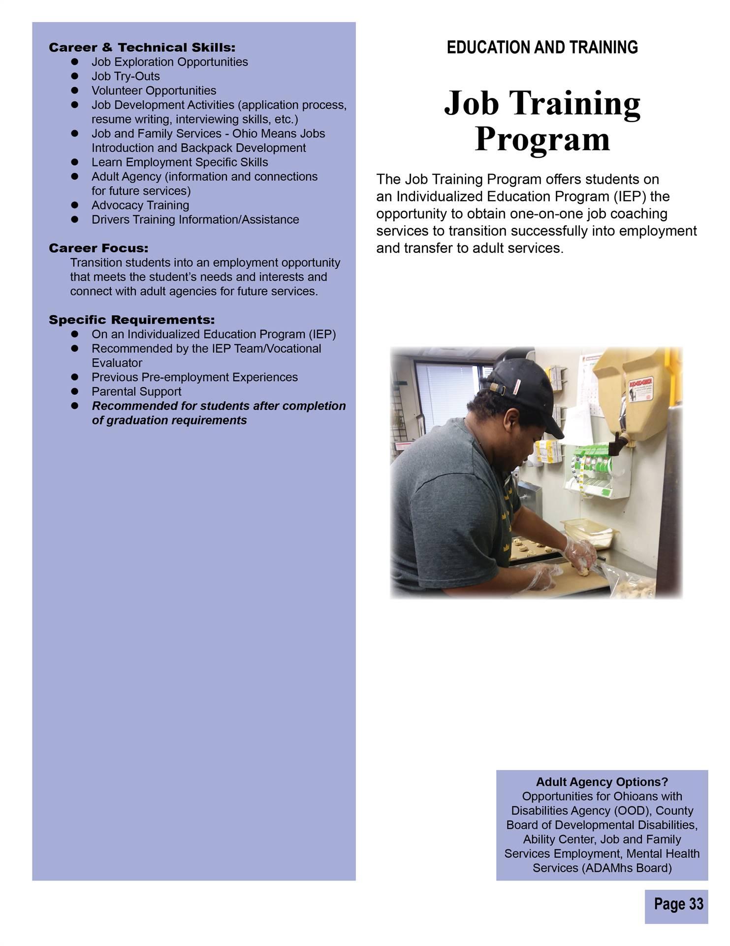 Job Training Program