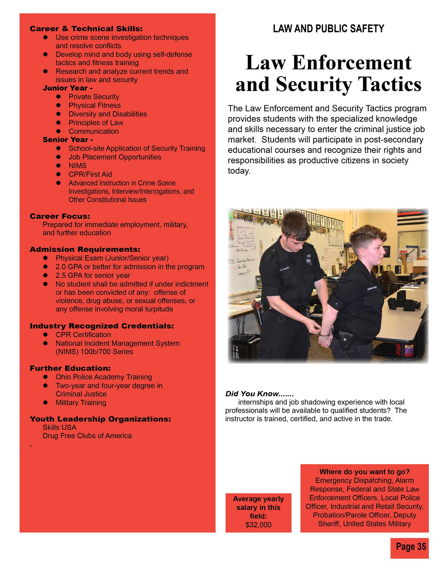 Law Enforcement and Security Tactics