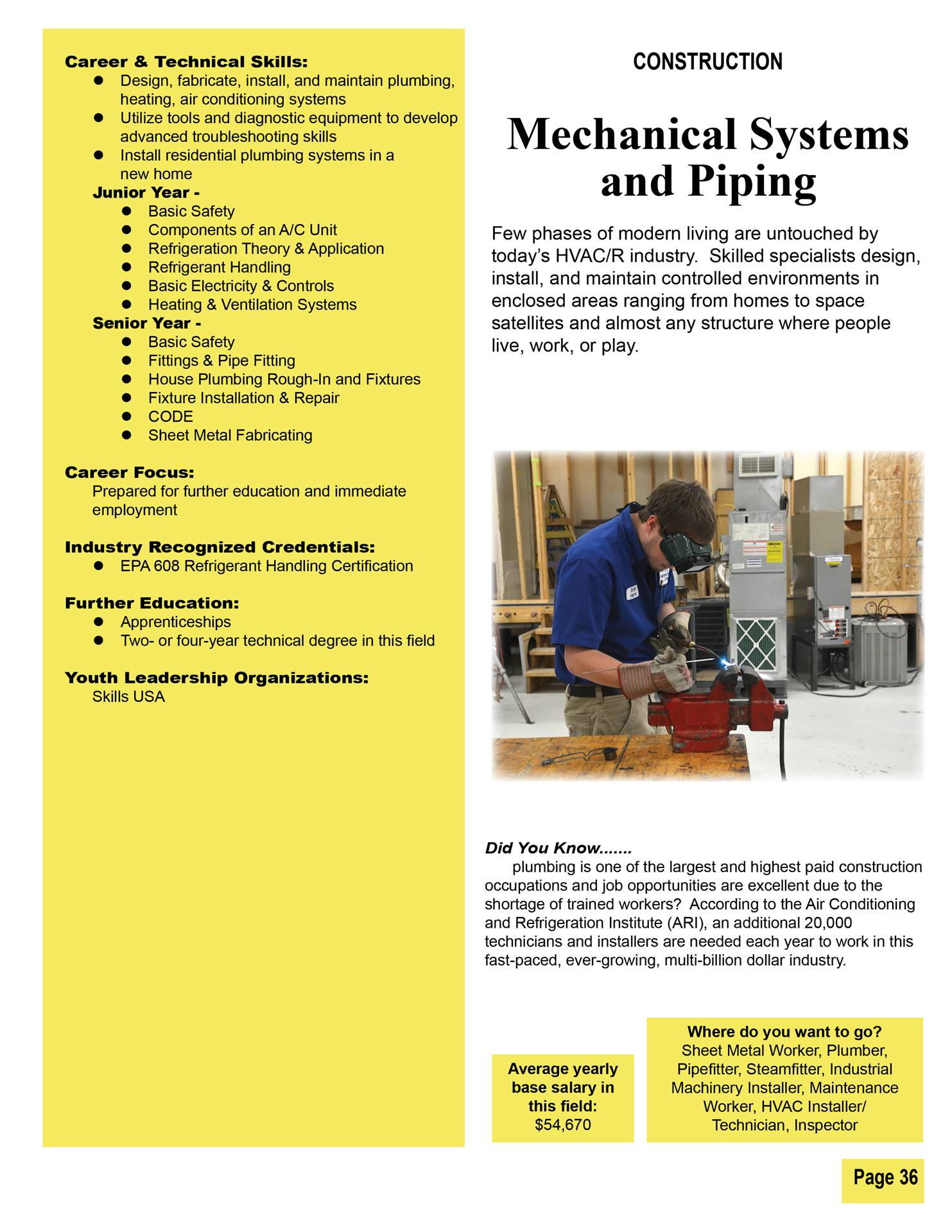 Mechanical Systems and Piping