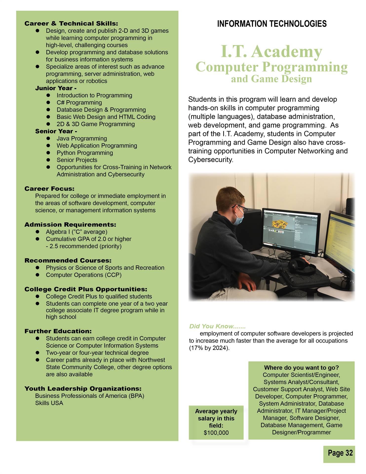 Computer Programming & Game Design